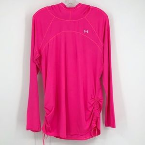 Under Armour Sunblock Hoodie Long Sleeve Top Pink